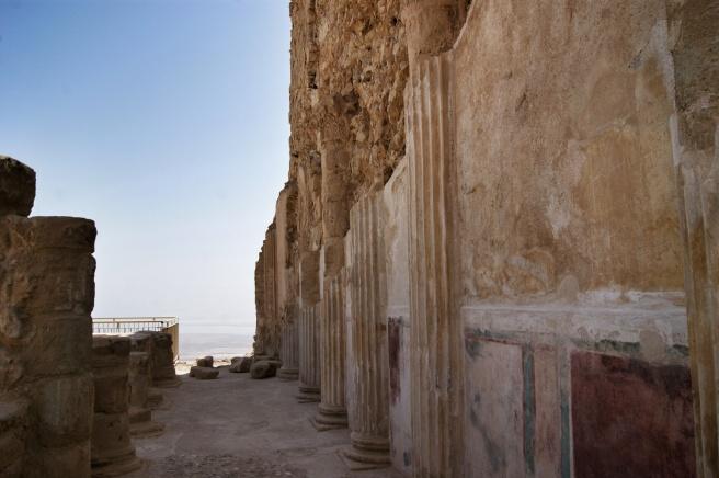 Decoración interior de parte del palacio de Herodes