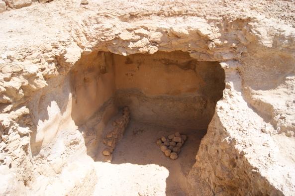 Munición en el interior de las excavaciones